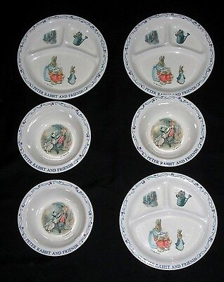 3 Eden Children's Plate and Bowl Sets F Warne & Co Peter Rabbit and Friends