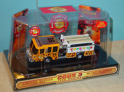 """Code 3 Toys""""r""""us Ferrara Fire Engine - Mint In Dome - Pre-Owned"""