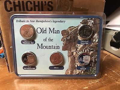 Rare Old Man Of The Mountain Tribute Coin Set