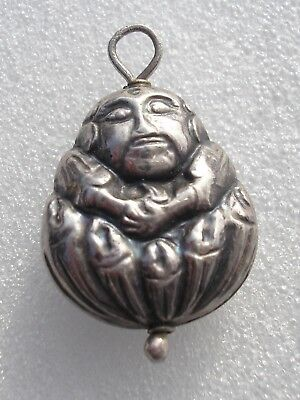 Antique Edwardian Sterling Silver pendant/charm Japanese immortal god