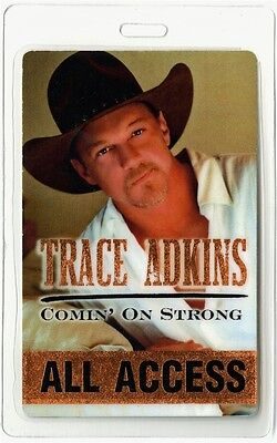 Trace Adkins authentic 2004 concert Laminate Backstage Pass Comin on Strong Tour