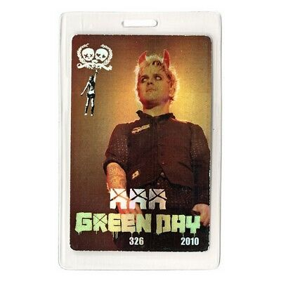 Green Day authentic 2010 Laminated Backstage Pass 21st Century Breakdown Tour