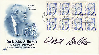 DR. ROBERT GALLO (1937 - ) hand signed 1986 autographed FDC - HIV AIDS doctor