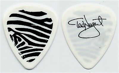 Ted Nugent vintage 1995 Spirit of the Wild tour Zebra striped stage Guitar Pick