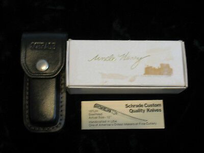 Vintage Uncle Henry/schrade Lb5 Sheath Box&paperwork Only