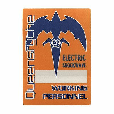 Queensryche authentic 1999 Electric Shockwave Tour satin Backstage Pass crew