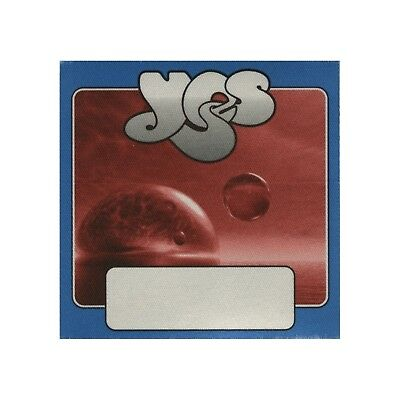 Yes authentic 2002 Full Circle Tour satin Backstage Pass band guest blue