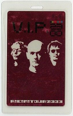 REM authentic 2003 concert Laminated Backstage Pass In Time Tour original VIP