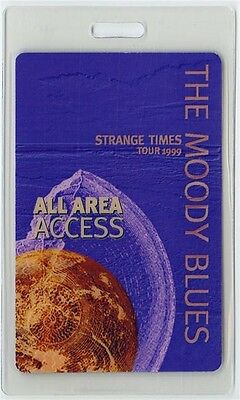 Moody Blues authentic 1999 concert Laminated Backstage Pass Strange Times Tour