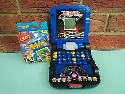 Hot Wheels Learning Computer Laptop Brand New Uno Card Game Lot