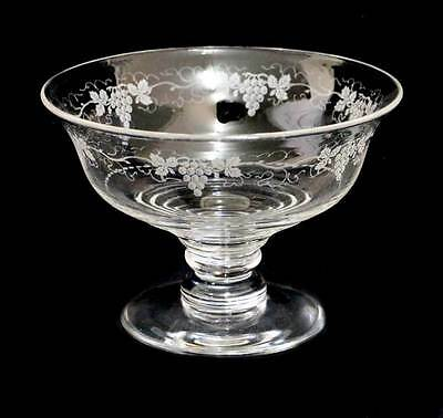 Vintage huge Stuart Crystal vine & grapes comport pedestal bowl