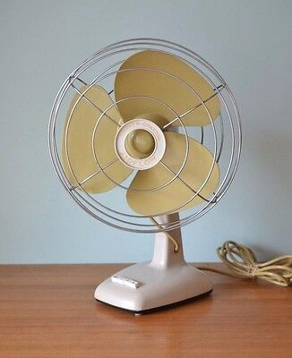 Vintage fan Warner Drayton Airflow oscillating Australian made