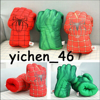 Halloween Child Cosplay Spiderman Boxing Plush Gloves Hero Fist Party Kids Gifts