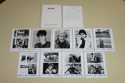 GOTCHA - press kit 9 photos Anthony Edwards Linda Fiorentino RARE