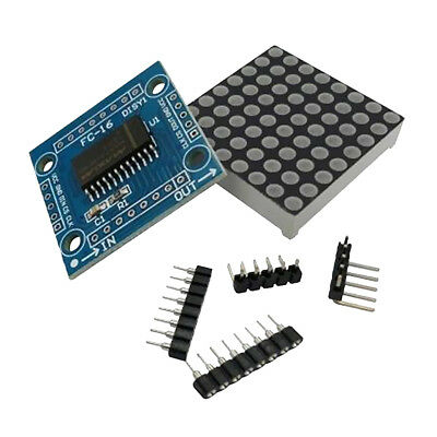 MAX7219 Red 8x8 LED Dot Matrix Display Module for Arduino