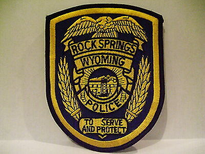 police patch  ROCK SPRINGS POLICE WYOMING
