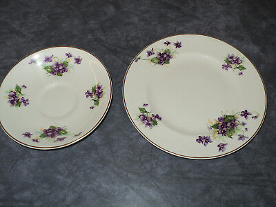 Bristol England Founded in 1652. China Saucer and Side Plate. 2 items.