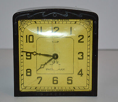 Rare Vtg Switchman Control Clock Made In Usa Bakelite Case