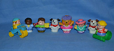 Fisher Price Little People/lot Of 8/wheelchair/girle On A Bike
