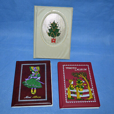 Vtg Three Mini Photo Albums Made In Canada And Singapore
