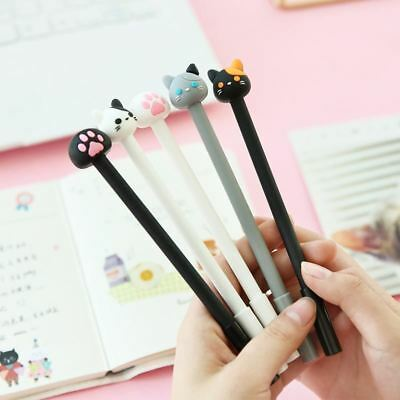 7 pcs Cute Cat Pens 0.5mm Black Gel Ink