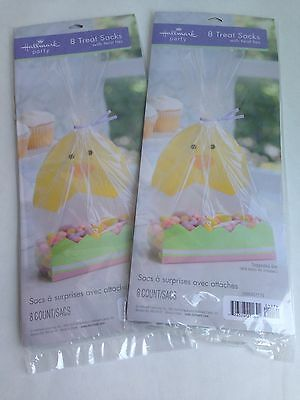 (2 Pkgs) Easter Cellophane Treat Gift Bags w/ Chickie in Grass Inserts, Hallmark