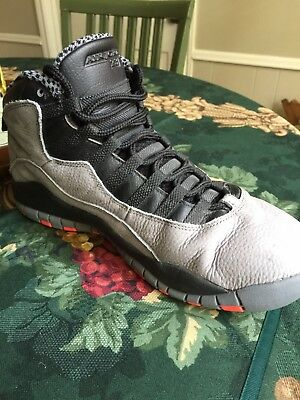 hot sale online fd7f2 b22d9 Mens Nike Air Jordan 10 Retro X Cool Grey Infrared Black Red Sz 10.5
