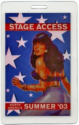 Bob Dylan authentic 2003 concert tour Laminated Backstage Pass pin up girl