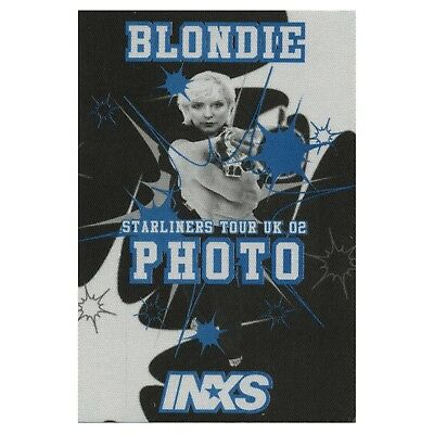 Blondie Authentic 2002 Satin Cloth Backstage Pass Starliners UK Tour w/ INXS