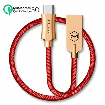 Mcdodo USB-C Type-C 3.0 Quick Charger Fast Charging Data Sync Cable Samsung S8 +