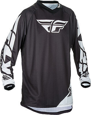 Fly Racing Universal Jersey Black MX Off-road BMX Youth & Adult All Sizes!