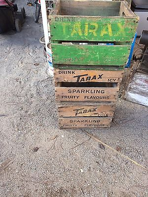 3 x vintage Tarax Lemonade Bottle wooden boxes