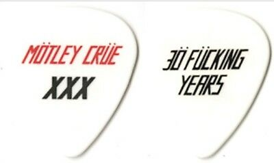 Motley Crue authentic 2011 tour HTF 30 F*cking years white concert Guitar Pick