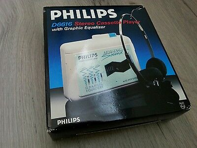 MINT/NEW rare boxed Philips D6616 stereo walkman moving sound WORKING
