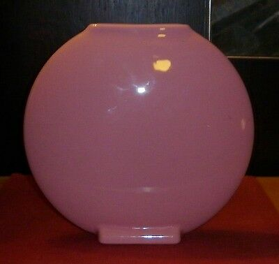 Groovy Memphis Period Large Pink  Porcelain Disc Vase  Mint Condition