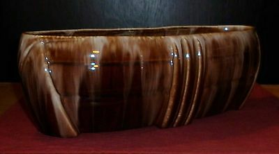 Large Newtone Pottery Sydney Planter In Brown Glaze Excellent Condition
