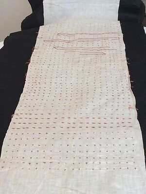 "Japanese WWII, Thousand Stich ""Good Luck Quilt"""