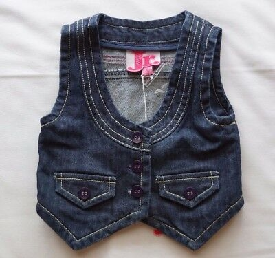 Bebe Jr By Minihaha Girls Denim Sleeveless Vest - Size 2 NEW