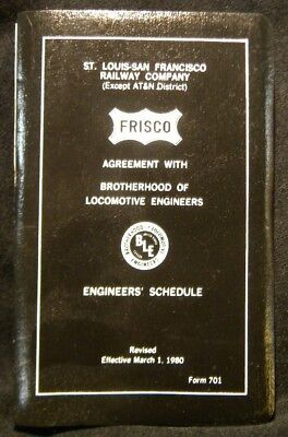 Frisco Agreement with Brotherhood of Locomotive Engineers 1980 Form 701