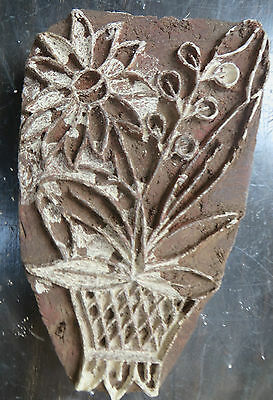 A32 Vintage Hand Carved Wood Block Stamps tools for fabric Prints  Aged Early