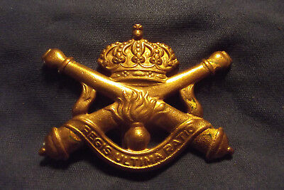 WW II Royal Belgium Artillery Cap Badge