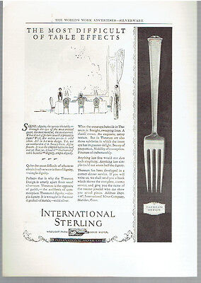 Vintage, Original, 1924 - International Sterling Theseum Design Ad - Silverware