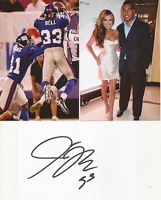 AMERICAN FOOTBALL NFL: JASON BELL SIGNED 6x4 WHITECARD+2 UNSIGNED PHOTOS+COA