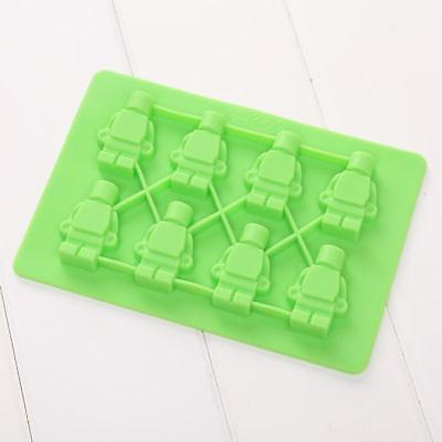 Minifigure Silicone Ice Mold Jelly Ice Cube Candy Chocolate Mould Bar Tools
