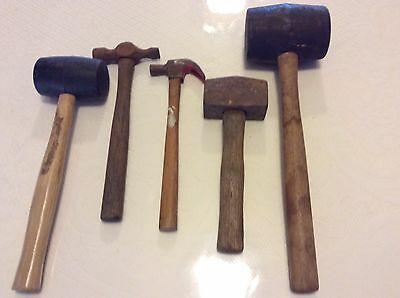 Vintage Mixed Lot Of Hammers