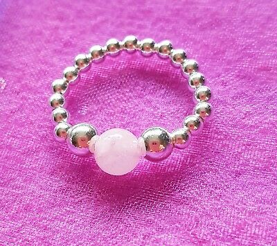 new 925 sterling silver ball bead ring various designs available gemstone charm
