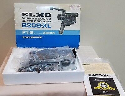 ELMO Super 8 Sound 230S-XL Focusfree With Original Box and Manual