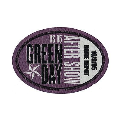 Green Day authentic 2005 American Idiot Tour satin Backstage Pass after show