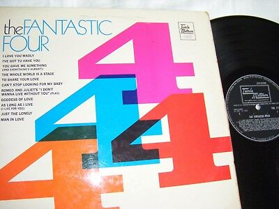 The Fantastic Four Lp, Uk 1St Press, Motown  V/g+.