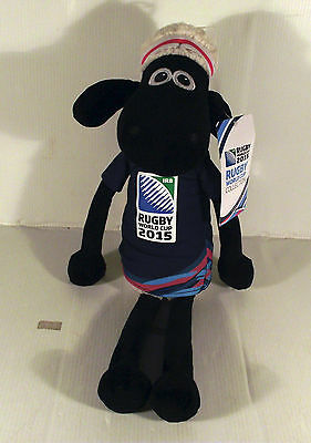 "18"" Shaun The Sheep Soft Toy -  Wallace And Gromit - Rugby World Cup 2015"